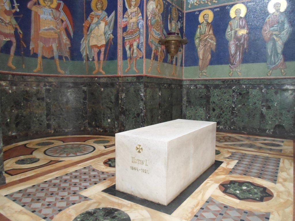 His Grave In The Royal Mausoleum St George S Church Oplenac